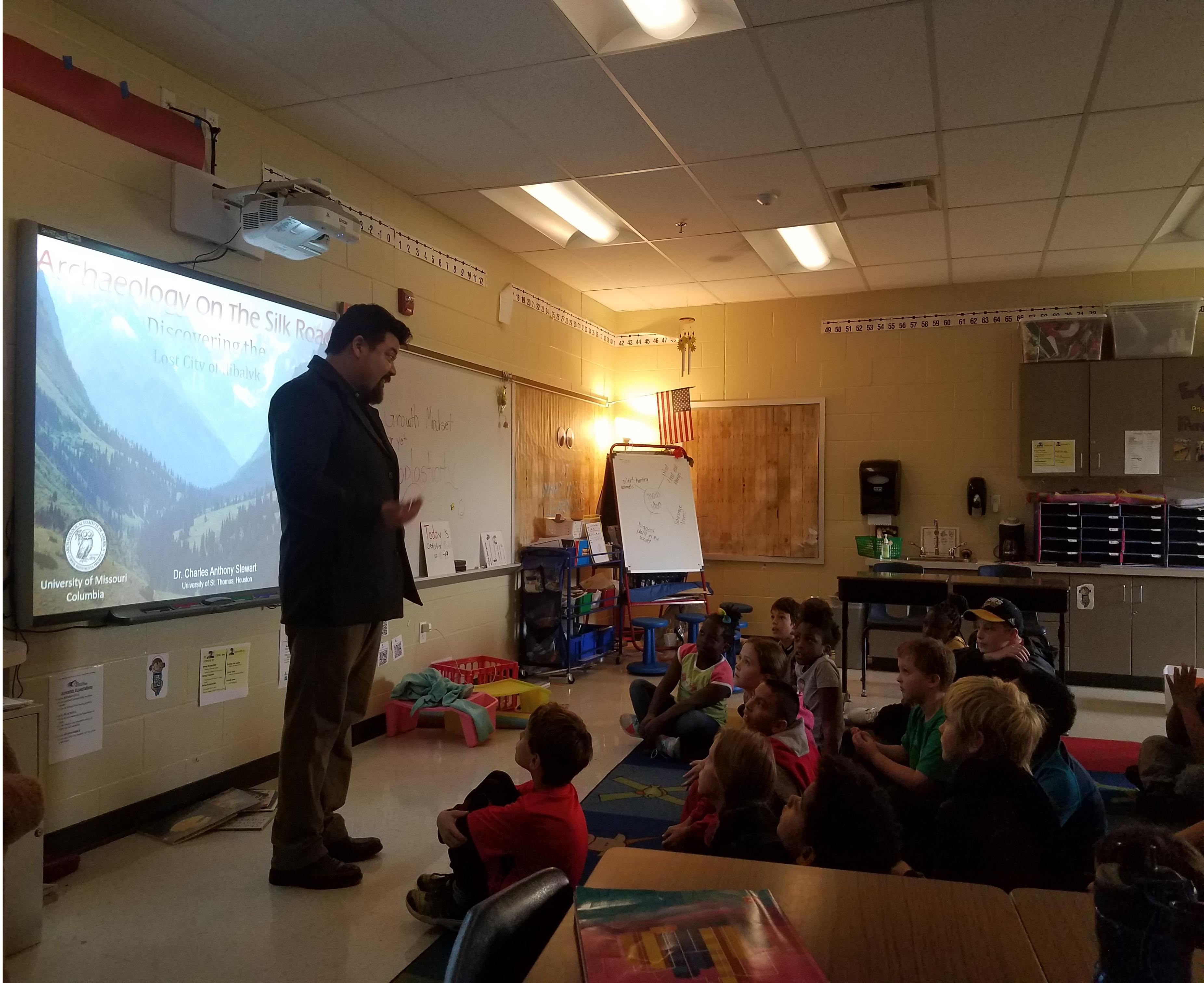 CAS teaching at a elementary school