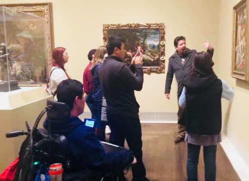 CAS teaching at a museum 2